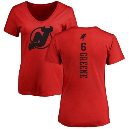 Andy Greene New Jersey Devils Women's Green Branded One Color Backer T-Shirt - Red